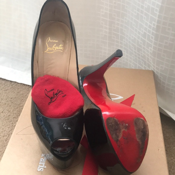 7baab6ad34f Original Christian Louboutin patten leather heels.